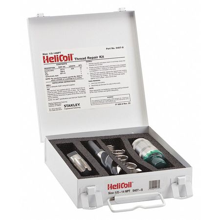 Thread Repair Kit, 304 SS, 1/2-14, 10 Pcs