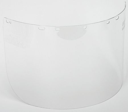 Faceshield Visor, Polycarb, 9-1/2x15-1/2in