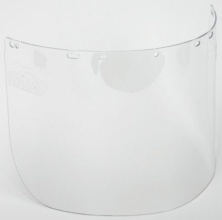 Faceshield Visor, Polycarb, Clr, 8x16in