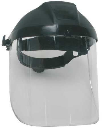 Ratchet Faceshield Asmbly, Blk, 9x15-1/2in