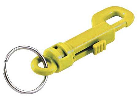 Plastic Key Clip, L 3 1/2 In