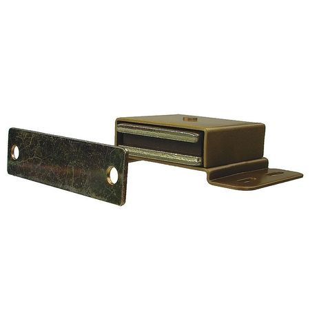 Magnetic Catch, Pull-to-Open, 34 lb., Brass