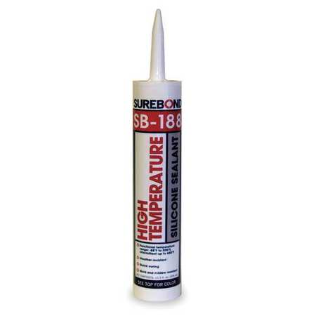 Silicone Sealant, High Temp, Clear, 10.3 oz