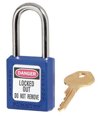 "Lockout Padlock, KD, Blue, 1-3/4""H"