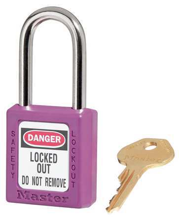 "Lockout Padlock, KD, Purple, 1-3/4""H"