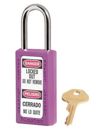 "Lockout Padlock, KD, Purple, 3""H"