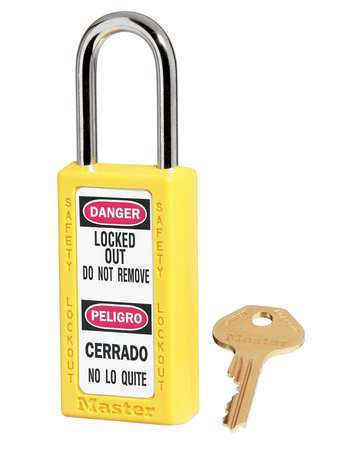 "Lockout Padlock, KD, Yellow, 3""H"
