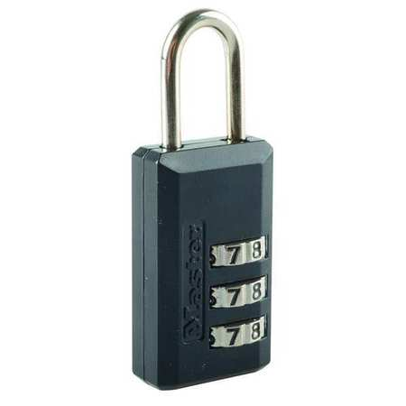Luggage/Briefcase Padlock, Brass, Side