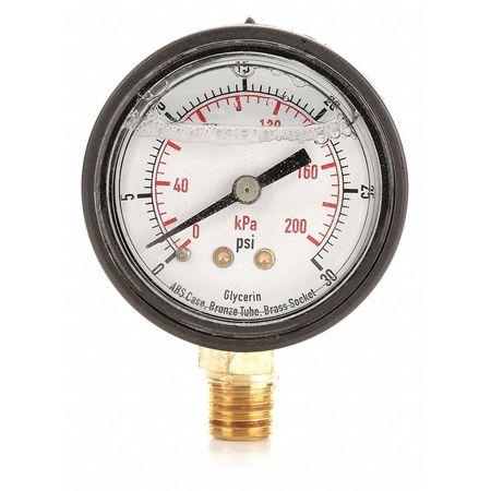 Pressure Gauge, Liquid Filled, 2 In