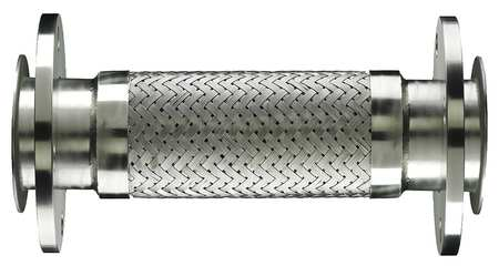Flexible Metal Hose, 4 In, 12 Length