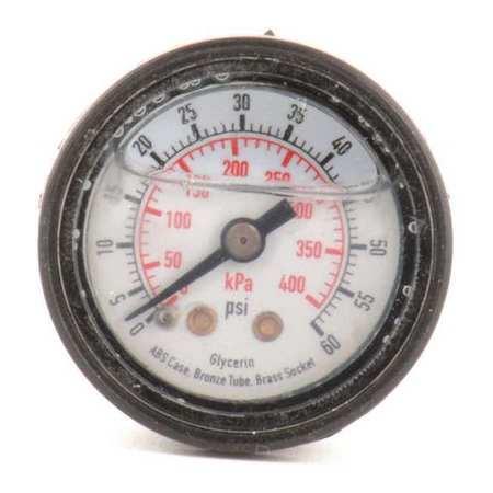 Pressure Gauge, Liquid Filled, 1-1/2 In