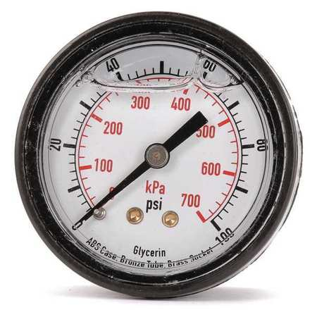 "Std. 2"" Pressure Gauge with ABS Case,  Back Connection"