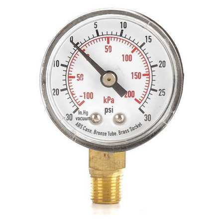 Compound Gauge, Test, 1-1/2 In