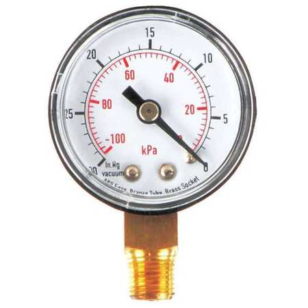 Vacuum Gauge, Test, 1-1/2 In