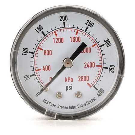 Pressure Gauge, 0to200 psi, 0to1400 kPa