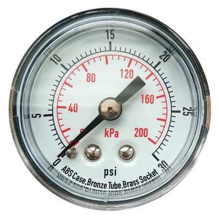 Pressure Gauge, 0 to 30 psi, 0 to 200 kPa