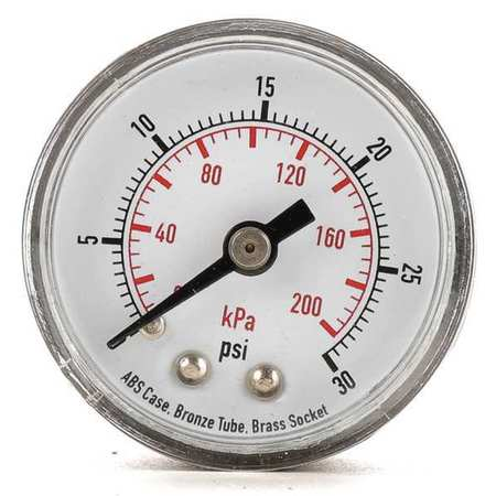 Pressure Gauge, 0 to 60 psi, 0 to 400 kPa