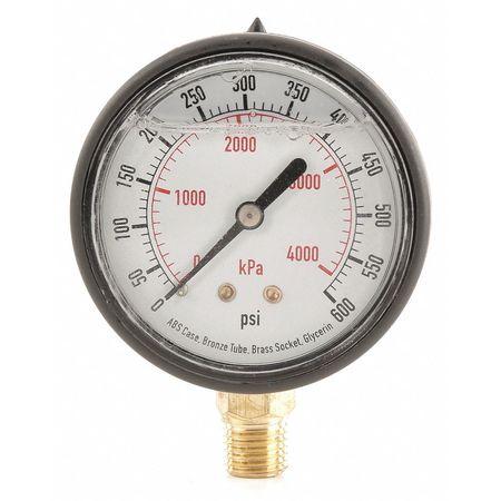 Pressure Gauge, Liquid Filled, 2-1/2 In