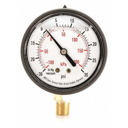 Compound Gauge, Liquid Filled, 2-1/2 In