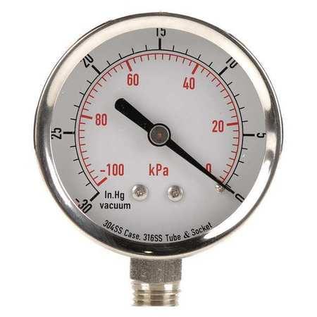 Vacuum Gauge, Test, 2-1/2 In