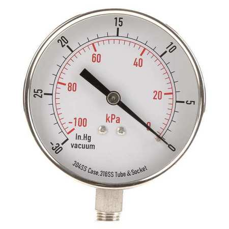 Vacuum Gauge, Test, 3-1/2 In