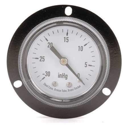 Panel Vacuum Gauge, Front Flange, 2 In
