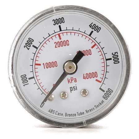 Pressure Gauge, 0 to 6000, 0 to 40, 000 kPa