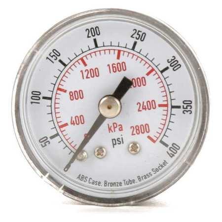 Pressure Gauge, 0to400 psi, 0to2800 kPa