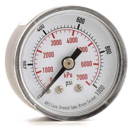 Pressure Gauge, 0to1000 psi, 0to7000 kPa