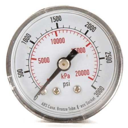Pressure Gauge, 0to3000 psi, 0to20, 000 kPa