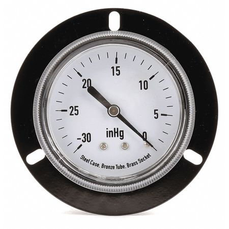 Panel Vacuum Gauge, Front Flange, 2 1/2 In