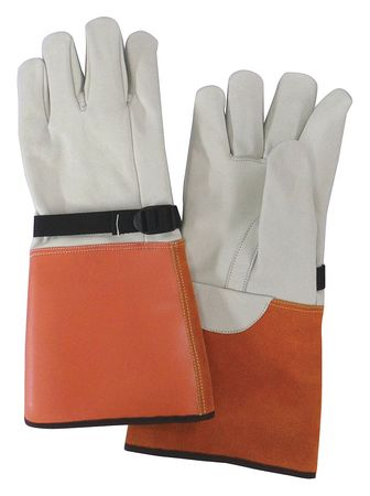 Elec. Glove Protector, 8, Beige/Orange, PR