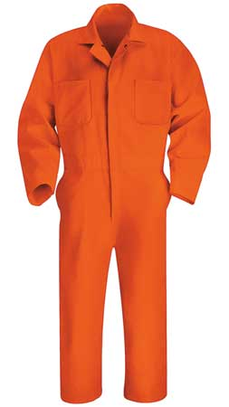 Coverall, Chest 48In., Orange