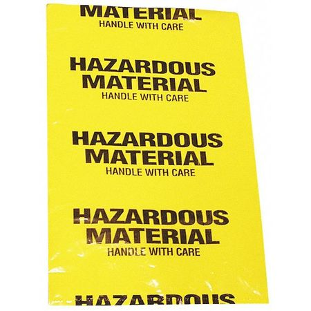 Hazardous Waste Bags, 1.5gal, Yellow, PK15