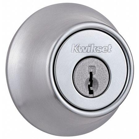 Key Control Deadbolt, Med.Duty, Brass
