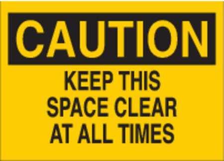 Caution Sign, 10 x 14In, BK/YEL, Fiberglass
