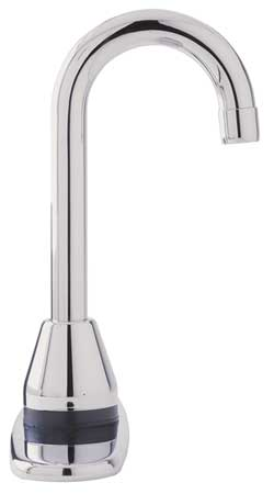 Rigid Gooseneck Bathroom Faucet,  Polished Chrome,  1 Hole