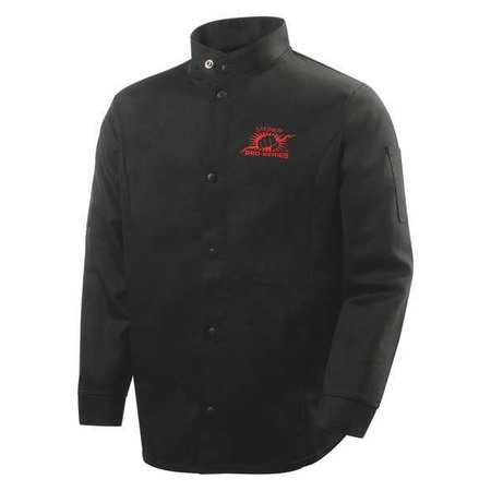 Welding Jacket,  Black,  Cotton,  3XL