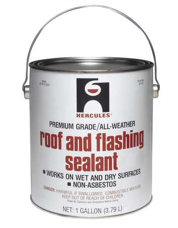 Roof Flashing Sealant, Black, 1 Gal