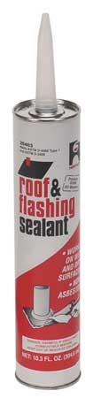 Roof Flashing Sealant, Black, 10.3 oz