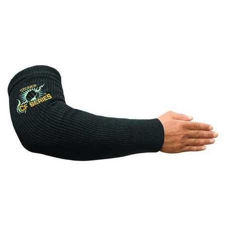 Heat-Resistant Sleeve,  Black,  Knit Carbonized Fiber