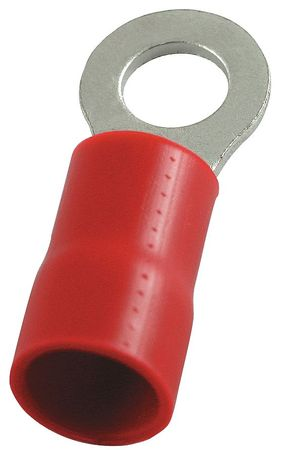 Ring Term, Vinyl, 1/4 in., 1.26 in., PK25