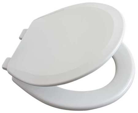 "Toilet Seat,  Round 16-1/4"" Closed Front,  With Cover White"