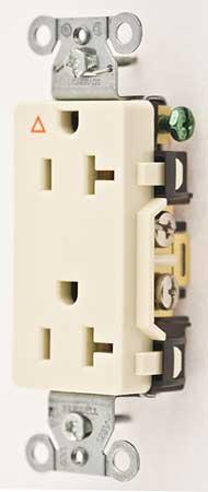 20A Duplex Decorator Receptacle 125VAC 5-20R Almond