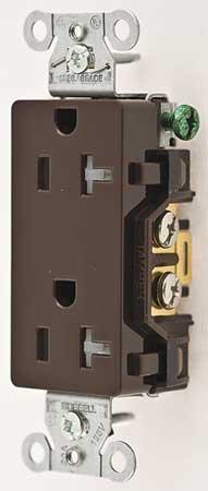 20A Duplex Decorator Receptacle 125VAC 5-20R BN