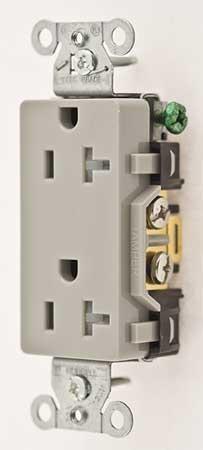 20A Duplex Decorator Receptacle 125VAC 5-20R GY