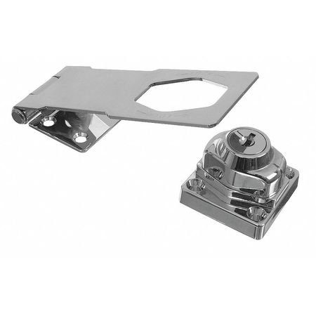 Hasp, Steel with Die-Cast Lock, Chrome