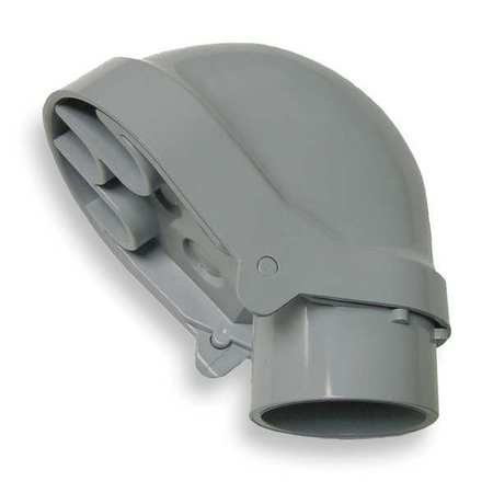 Service Entrance Cap, PVC, 12-25/32 In. L