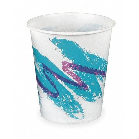 Disp. Cold Cup, 5 oz., White/Blue, PK100