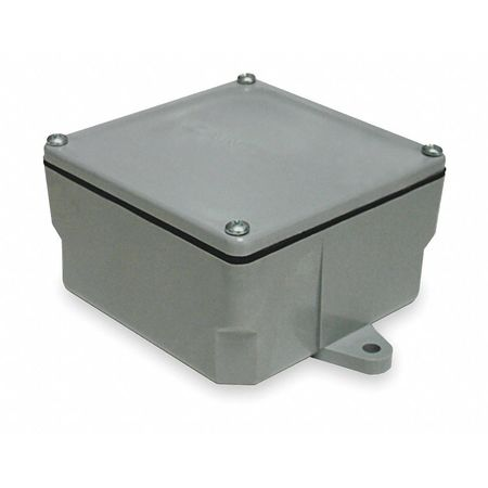 Electrical Box, PVC, 4.396x4.396x4.50